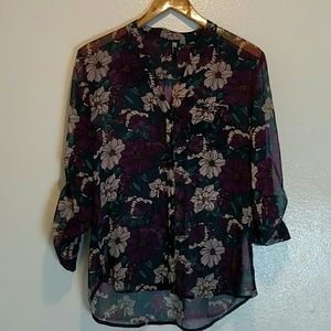 Kut from the kloth Sheer Floral Top Size XS